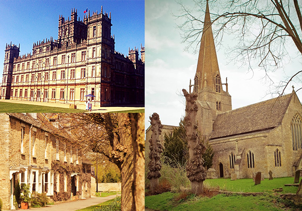Downton Abbey Filming locations, Cotswolds and afternoon visit to Highclere Castle